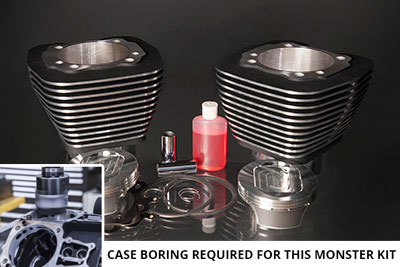 "Twin Cam 117"" Monster Big Bore Kit Black Highlight"
