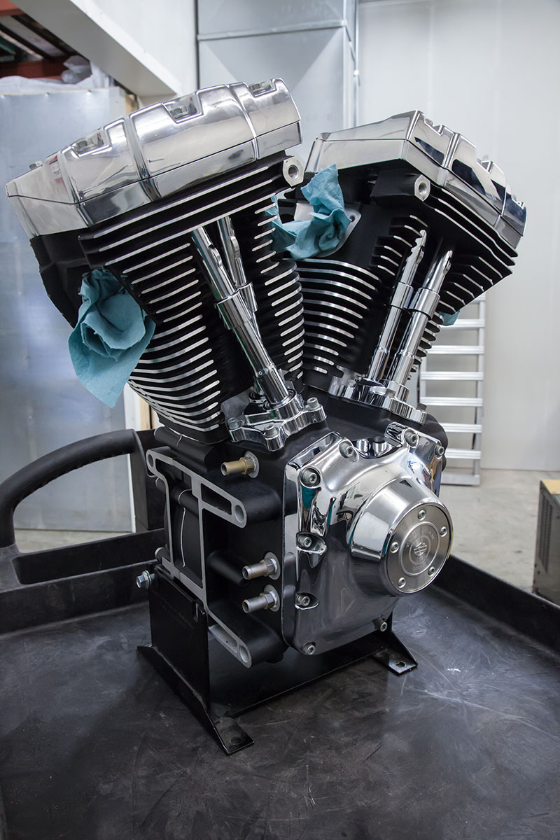 Harley Engine assembled